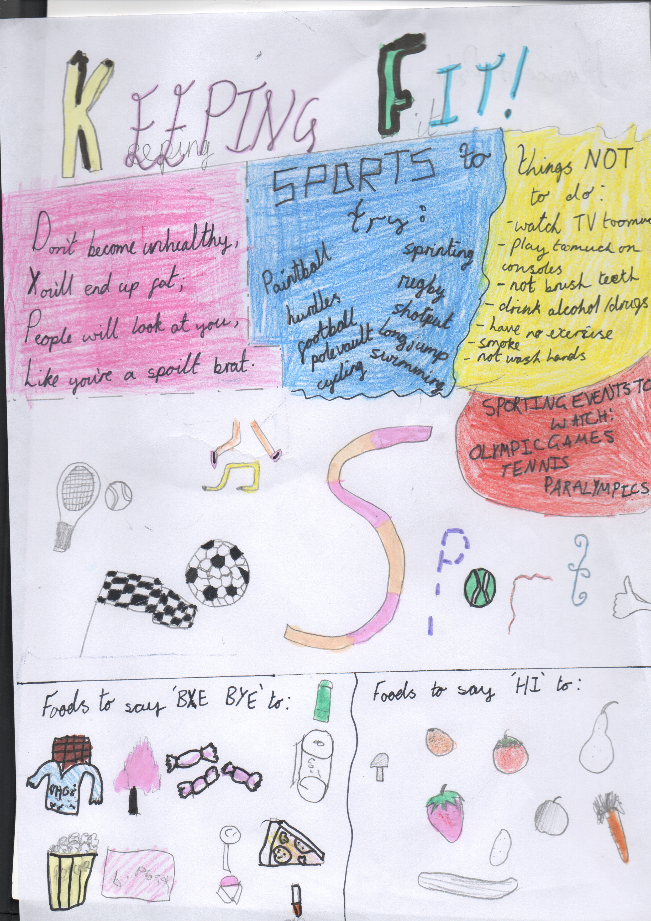 Tollesbury School poster by Florence and Dylan