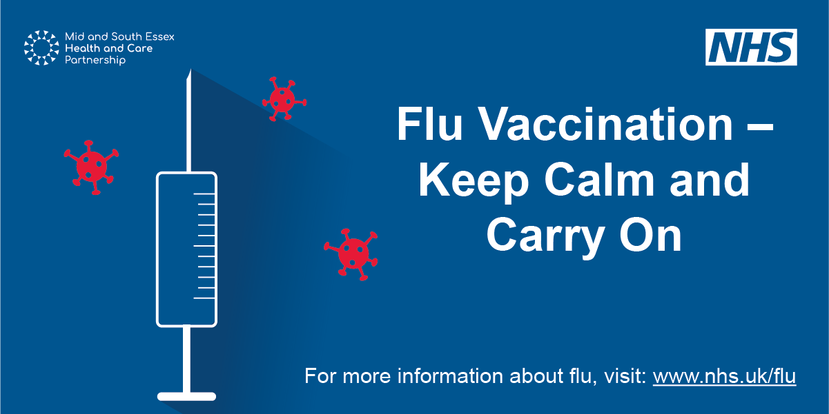 Flu carry on social media graphic