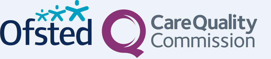 The logos of Ofsted and the CQC